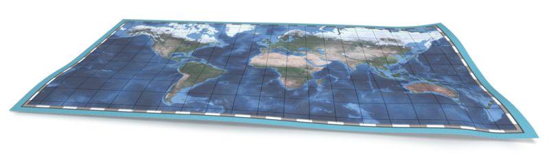 Clipart - World Travel Map