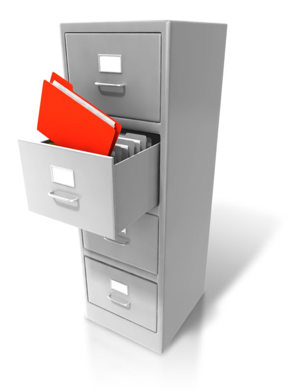 Clipart - Office Cabinet Pull Out Files