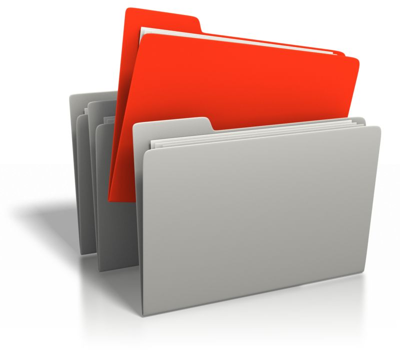 Clipart - File Stand Out