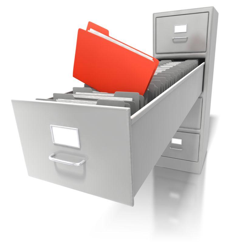 Clipart - Deep File Cabinet