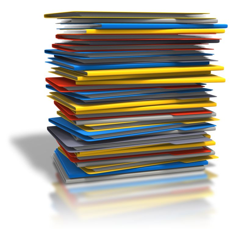 Clipart - Pile Of Folders