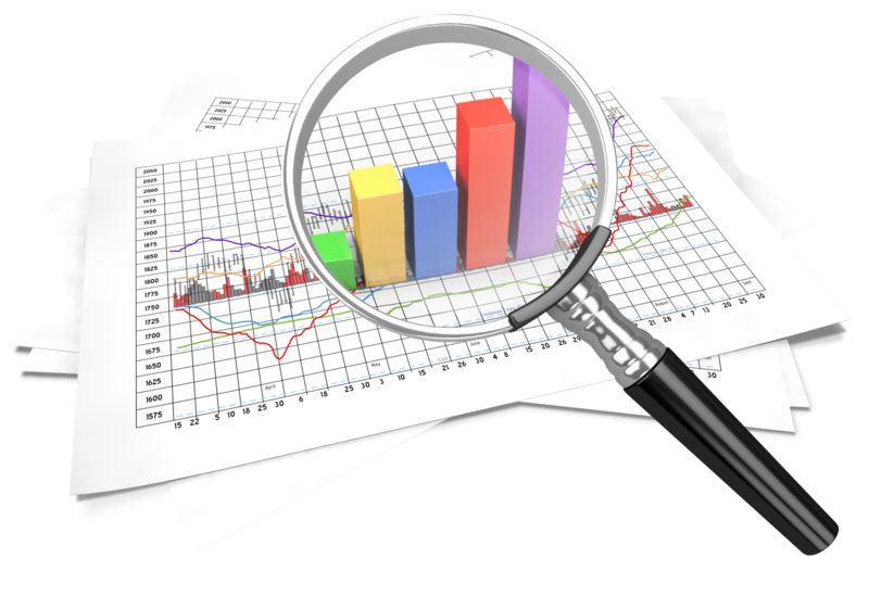 Clipart - Financial Data Zoom In Magnify