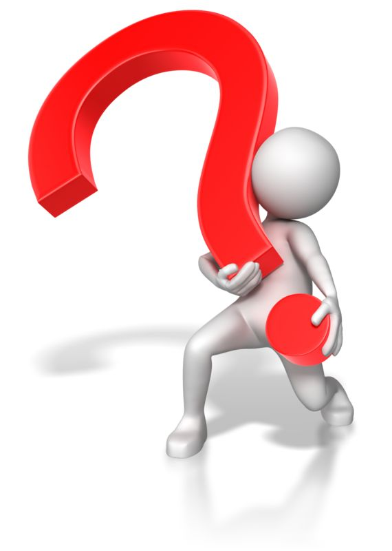 Clipart - Stick Figure Lifting Heavy Question Mark
