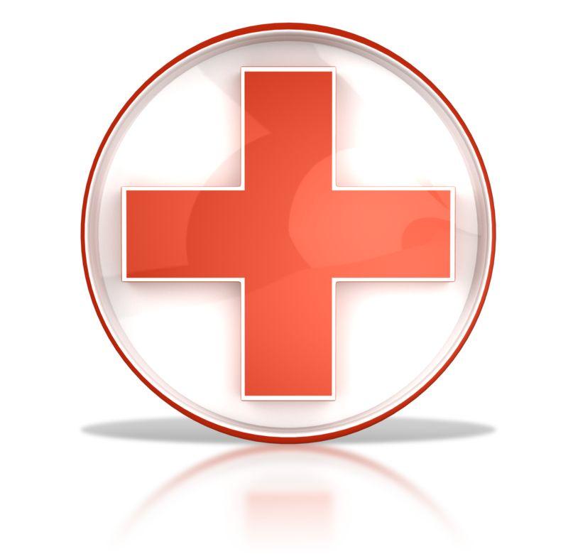 Clipart - Hospital Health Cross Button