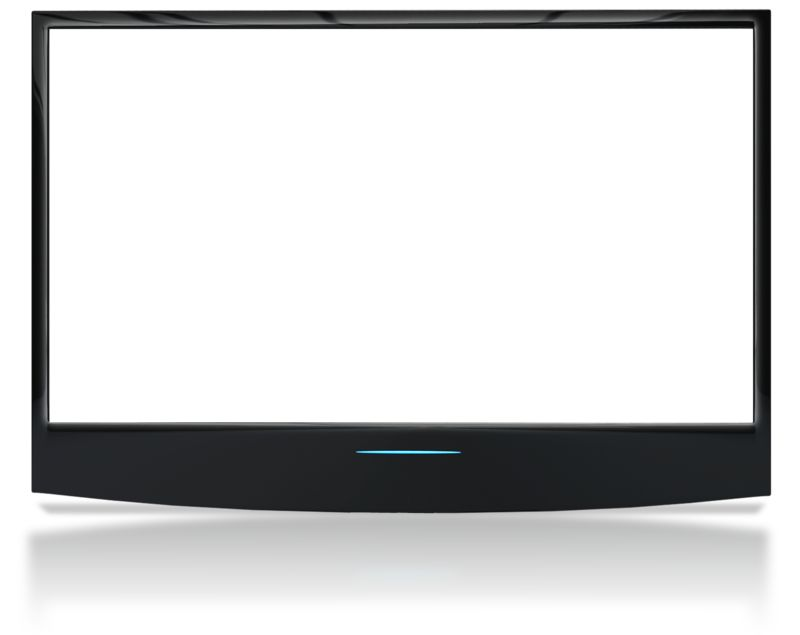 Clipart - See Though Flat Screen No Stand