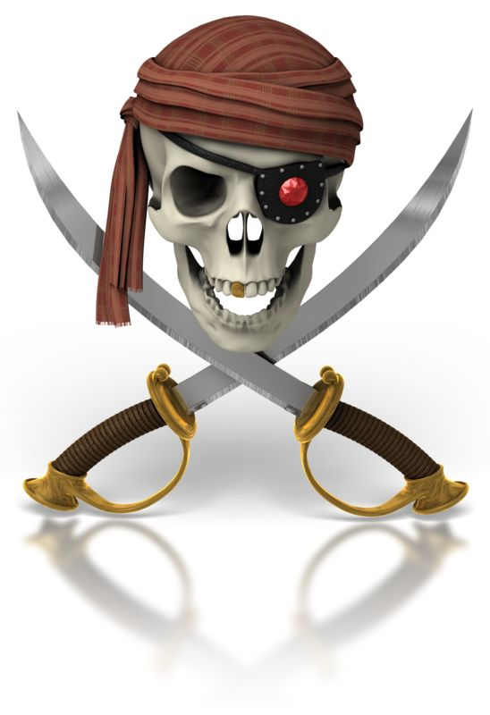Clipart - Pirate Skull And Swords