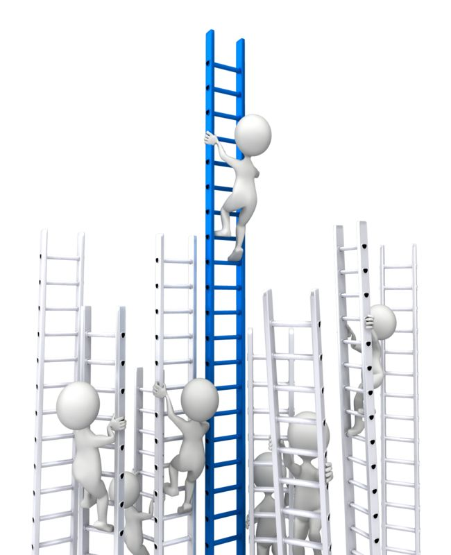 Clipart - Competition Corporate Ladder
