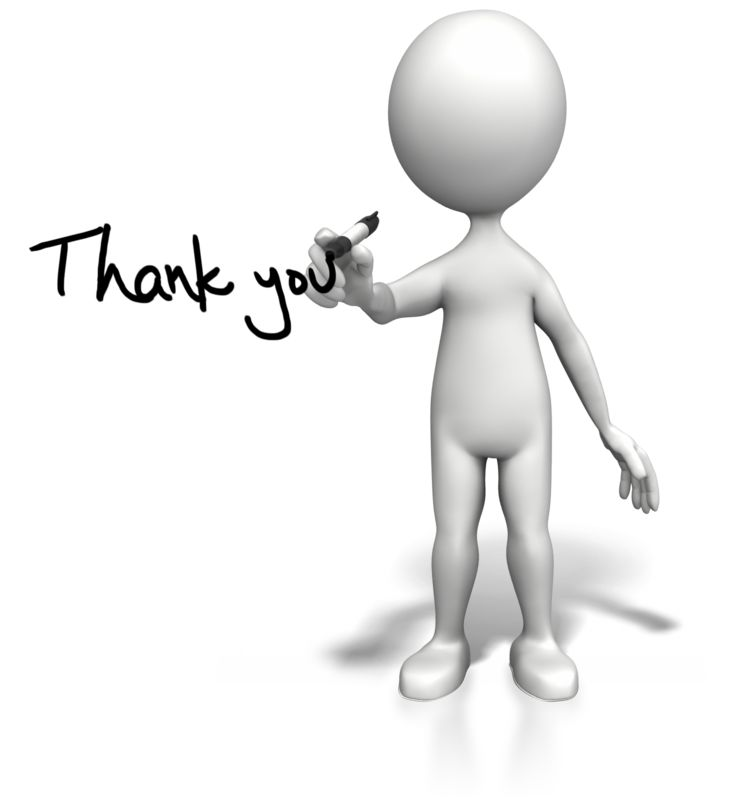 Clipart - Stick Figure Drawing Thank You