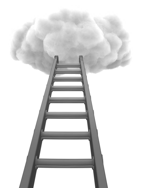 Clipart - Ladder To Cloud