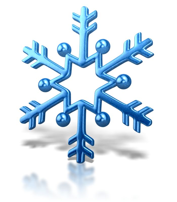 Clipart - Snowflake Arrow Design