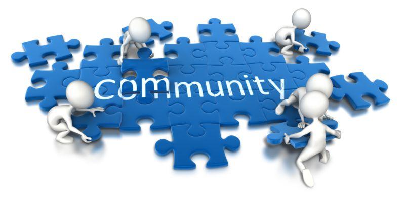 Clipart - Puzzle Pieces Community Teamwork