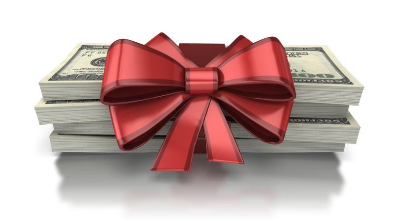 Clipart - Gift Of Money