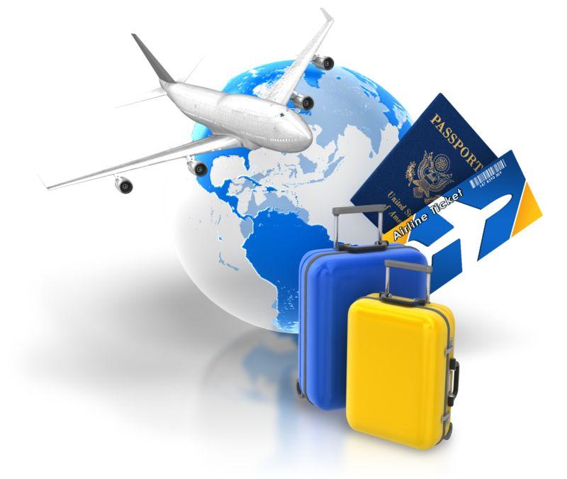 Clipart - Travel Package Tickets Passport