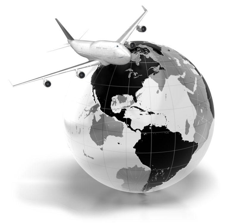 Clipart - Flight Across The World