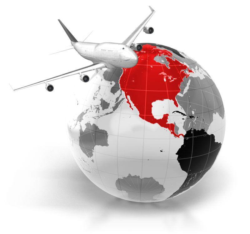 Clipart - Flight To North America