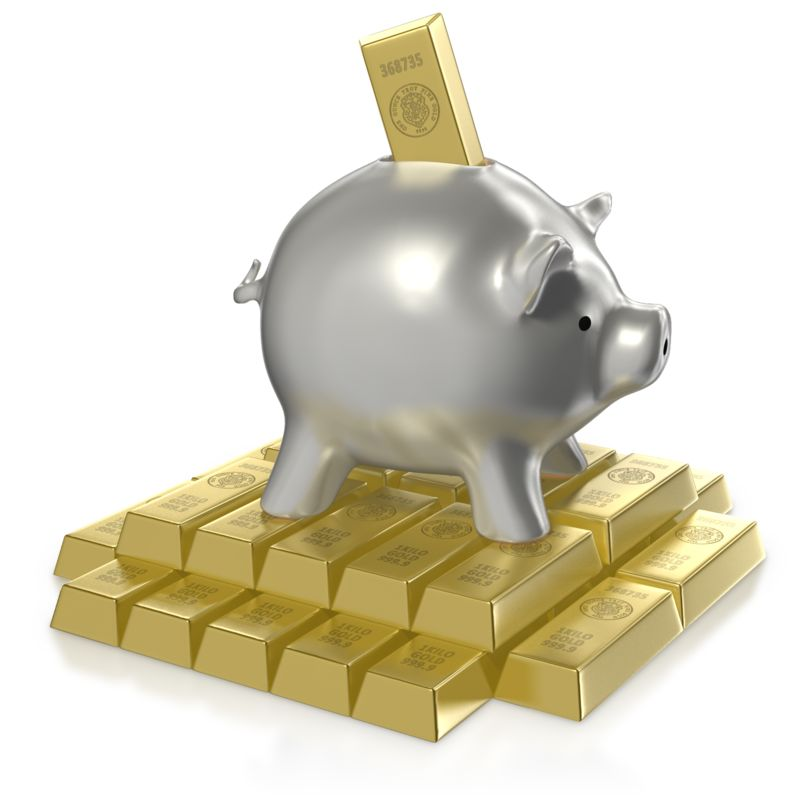 Clipart - Investing in Gold