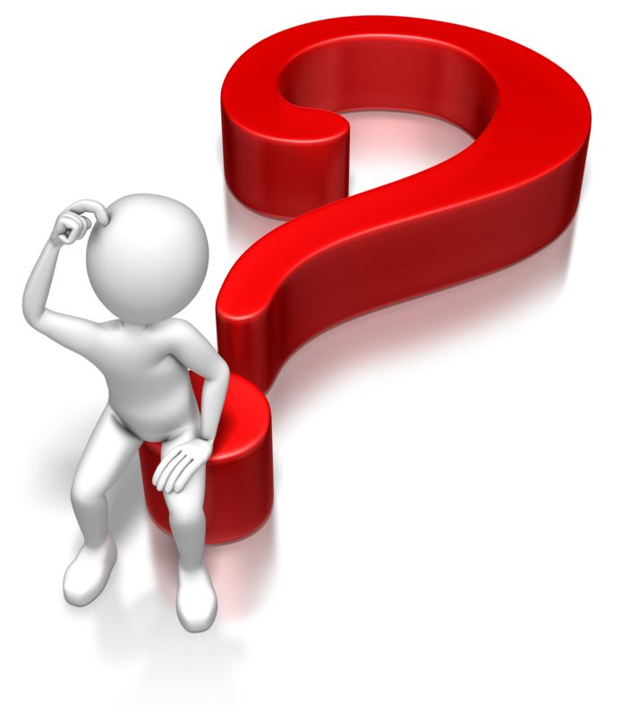Clipart - Stick Figure Sitting On Question Mark