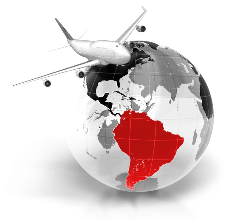 Clipart - Flight To South America