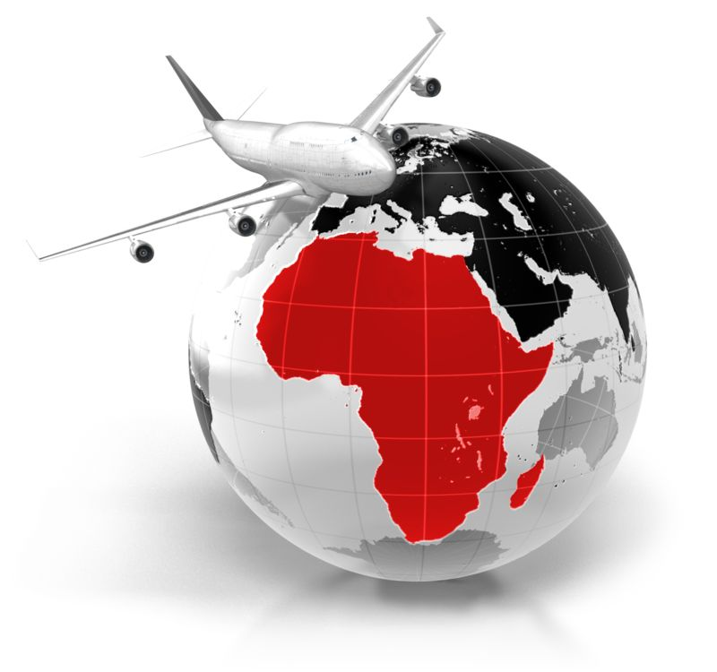Clipart - Flight To Africa
