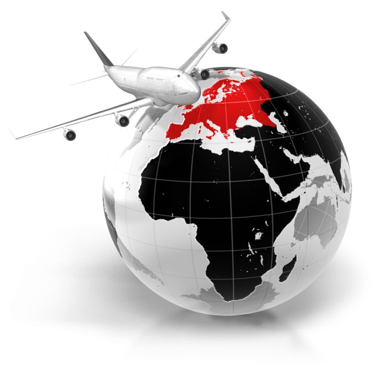 Clipart - Flight To Europe