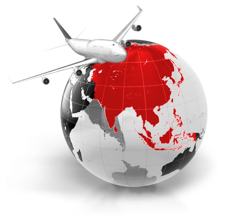 Clipart - Flight To Asia