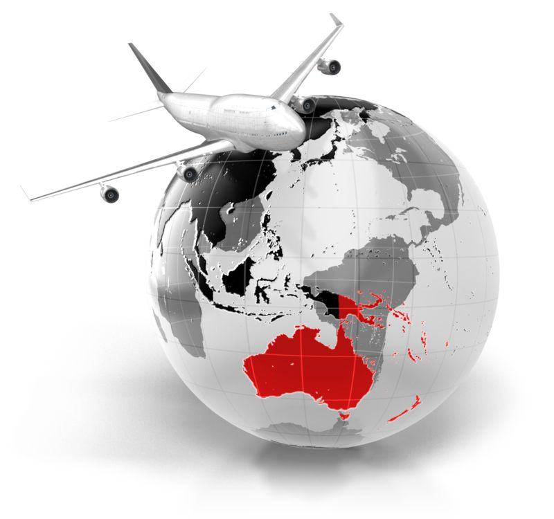 Clipart - Flight To Australia
