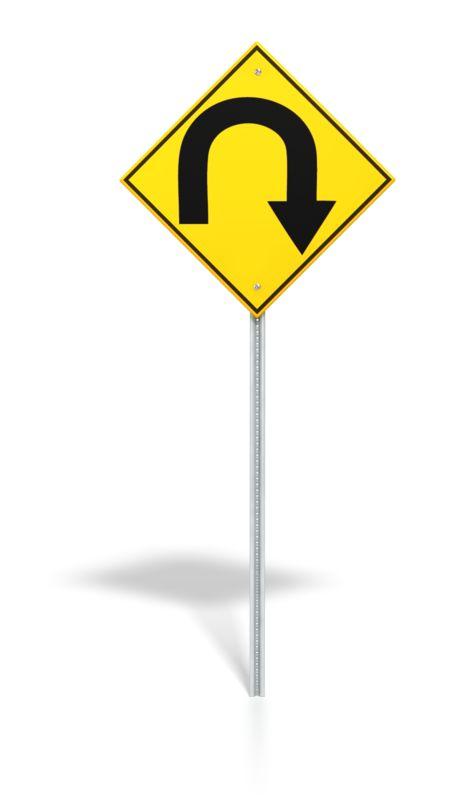 Clipart - U Turn Road Sign