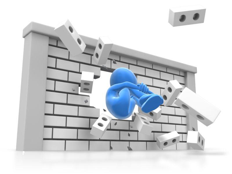 Clipart - Human Cannonball Wall Break