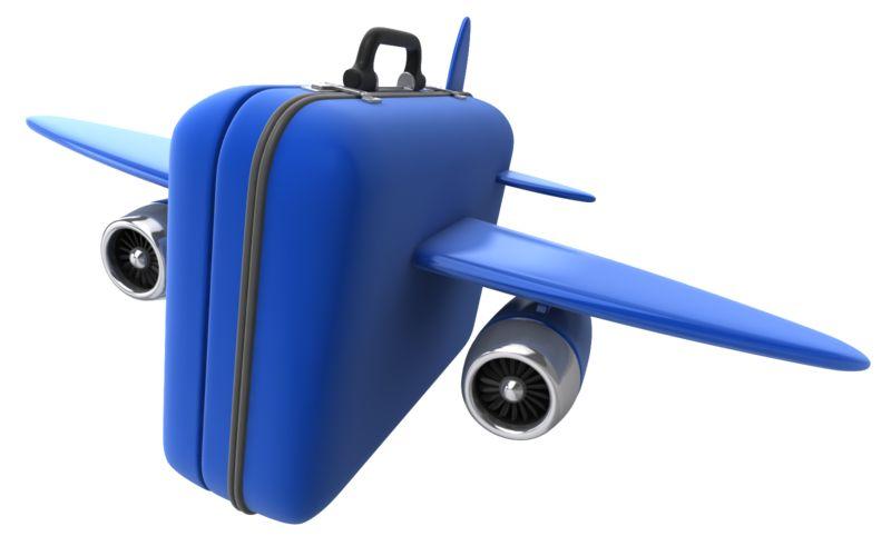 Clipart - Luggage Travel Flight