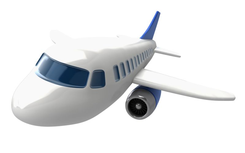 Clipart - Closeup airliner at angled view