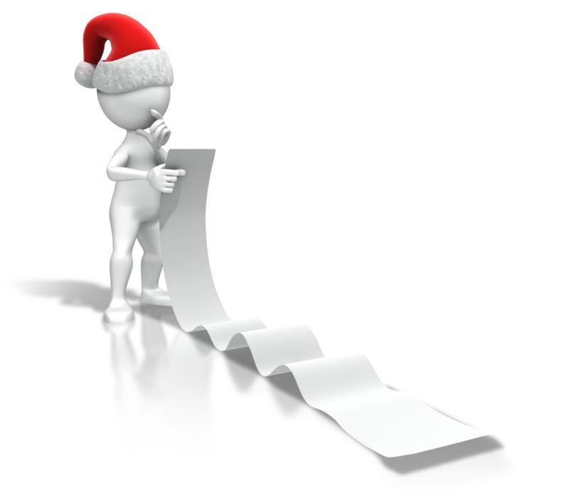 Clipart - Christmas Figure Reading List