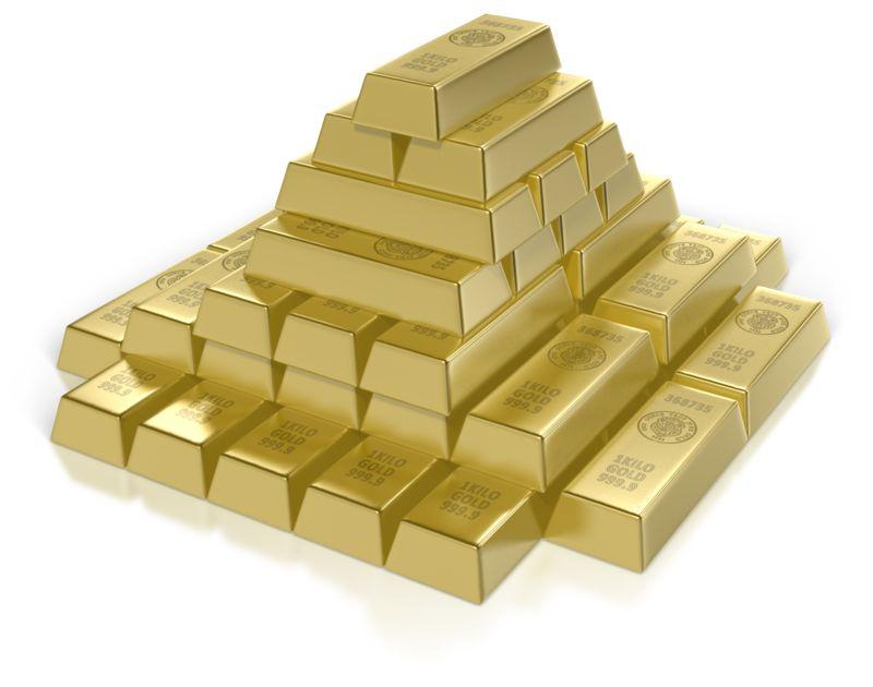 Clipart - Gold Bar Pyramid
