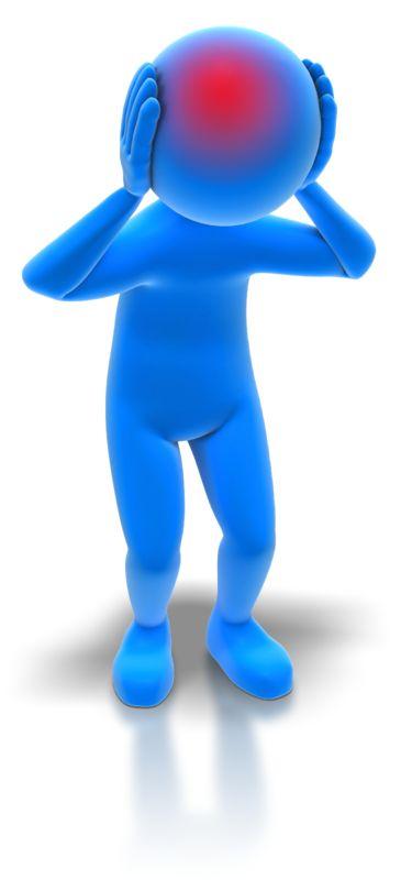 Clipart - Stick Figure With Headache