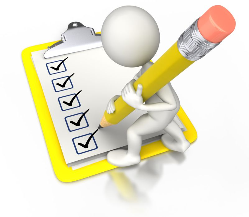 Clipart - Check Off With Pencil