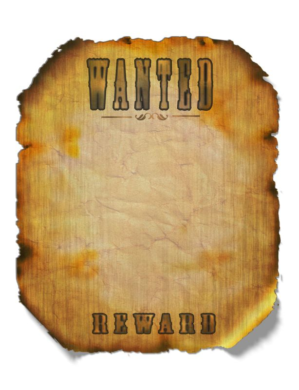 Clipart - Wanted Poster