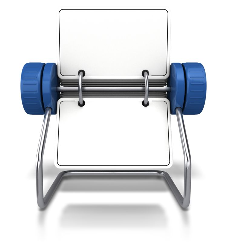 Clipart - Front Facing Office Card Holder