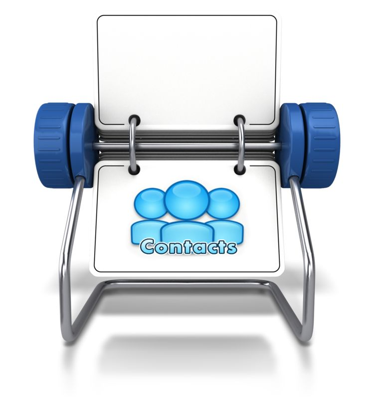 Clipart - Contacts Office Card Holder