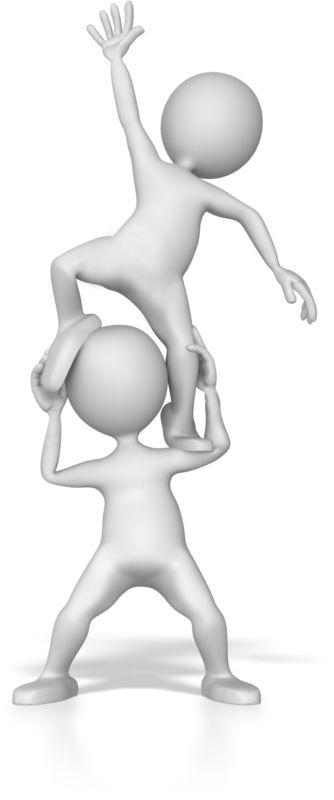 Clipart - Stick Figure Boost