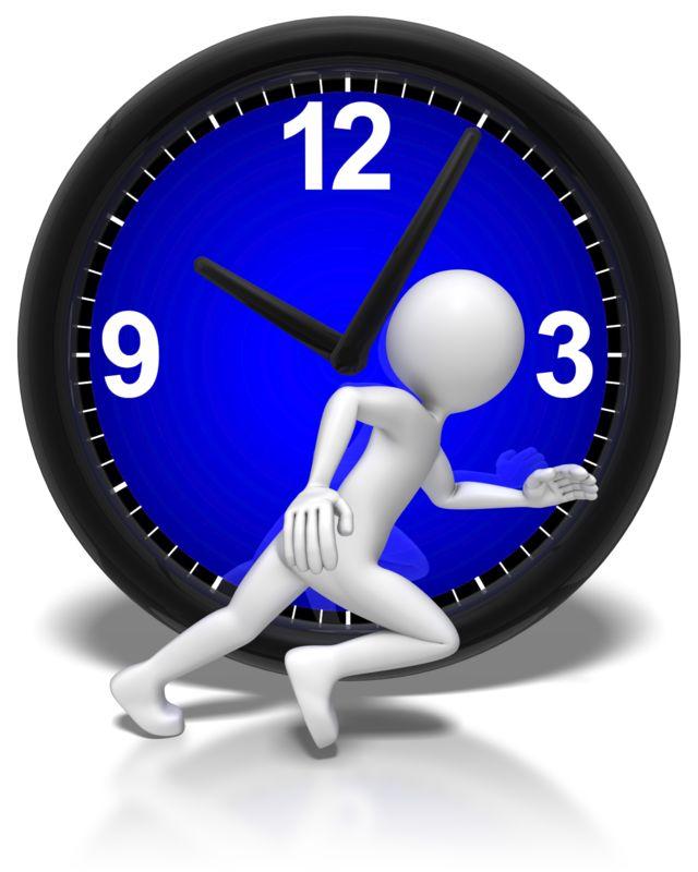 Clipart - Stick Figure Run Clock