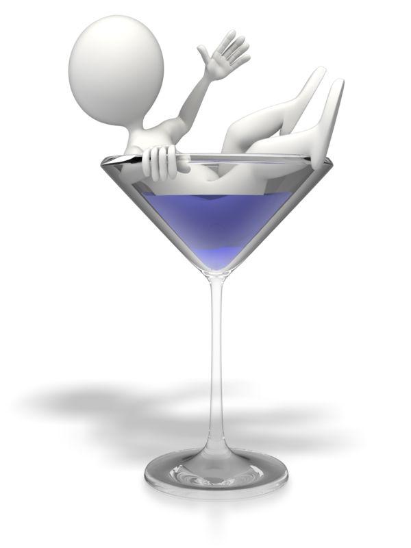 Clipart - Martini Glass Figure