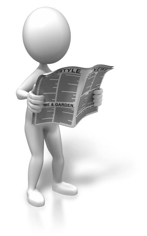 Clipart - Standing With The News