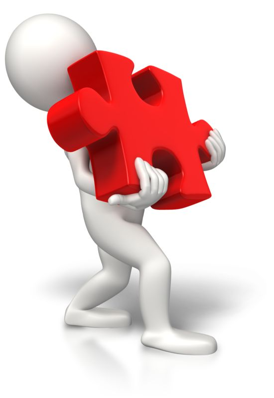 Clipart - Carrying Heavy Puzzle Piece