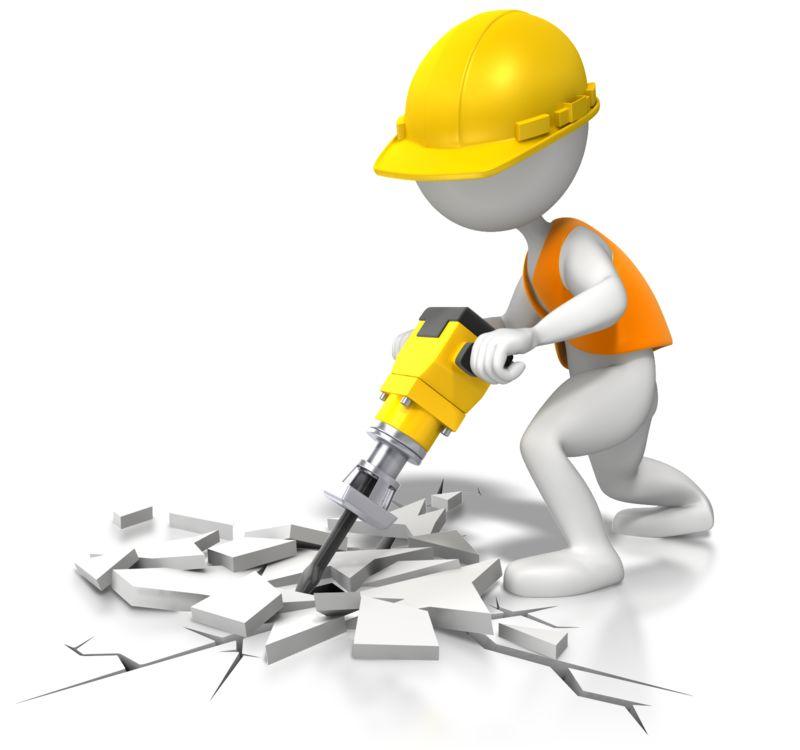 Clipart - Jackhammer - Under Construction