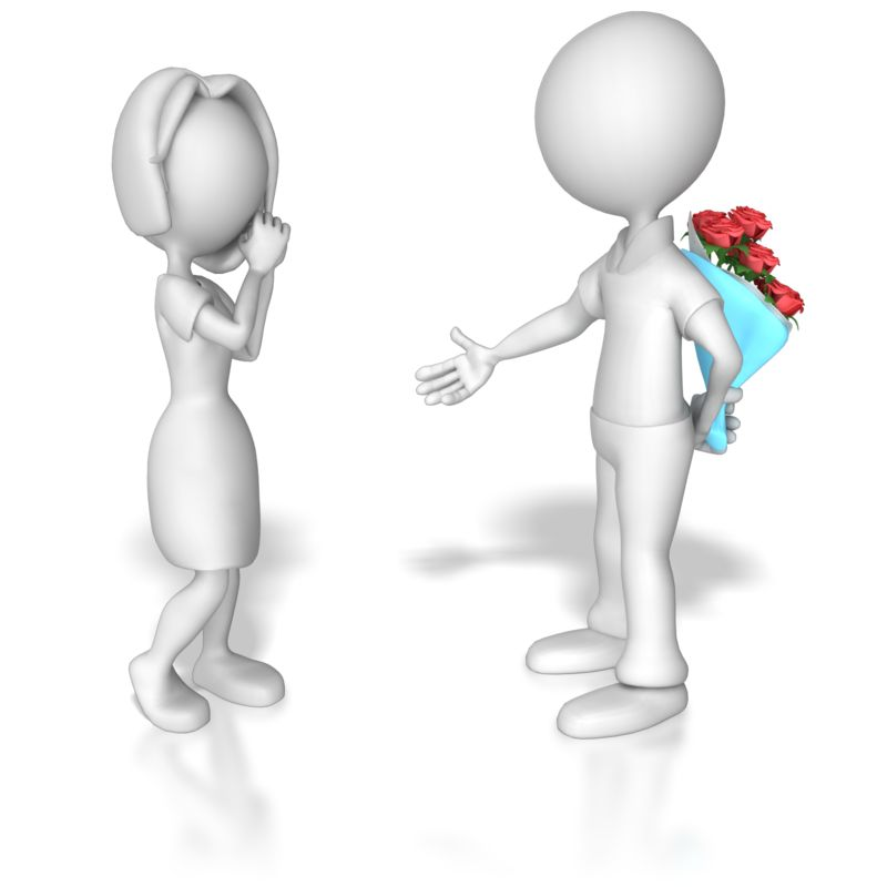 Clipart - Ask Out On Date