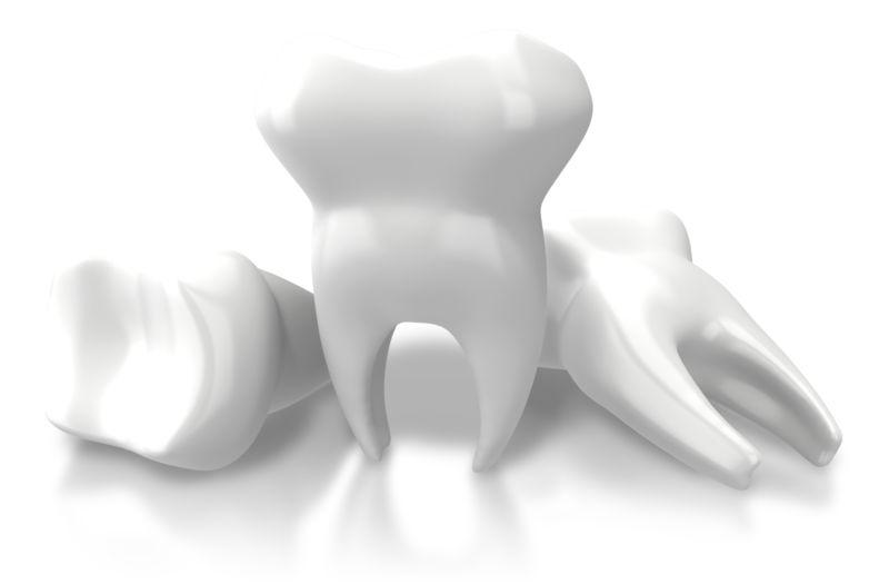 Clipart - Three Teeth Extracted