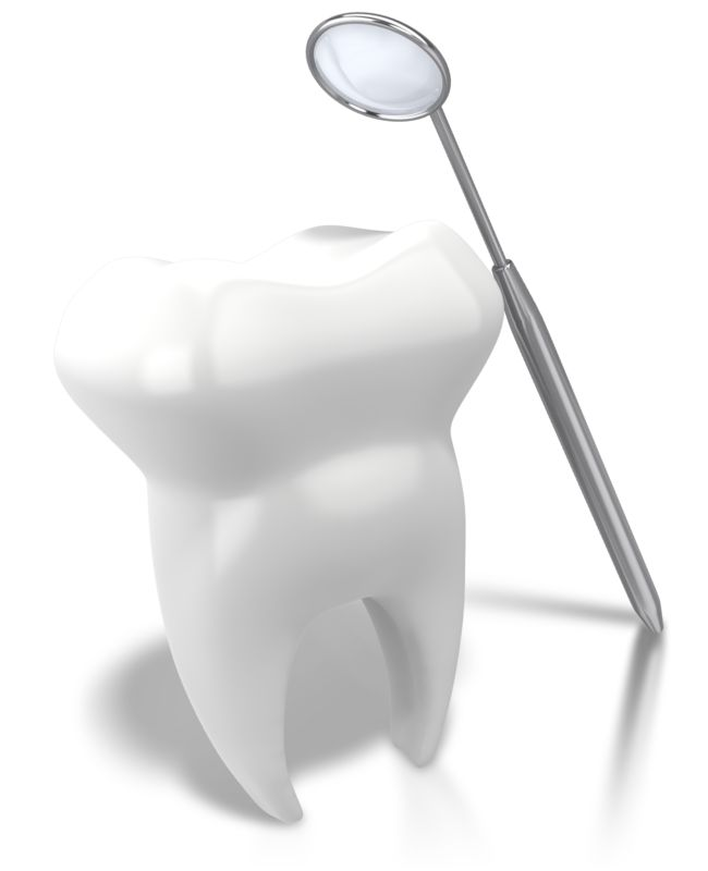 Clipart - Checking Tooth With Mirror