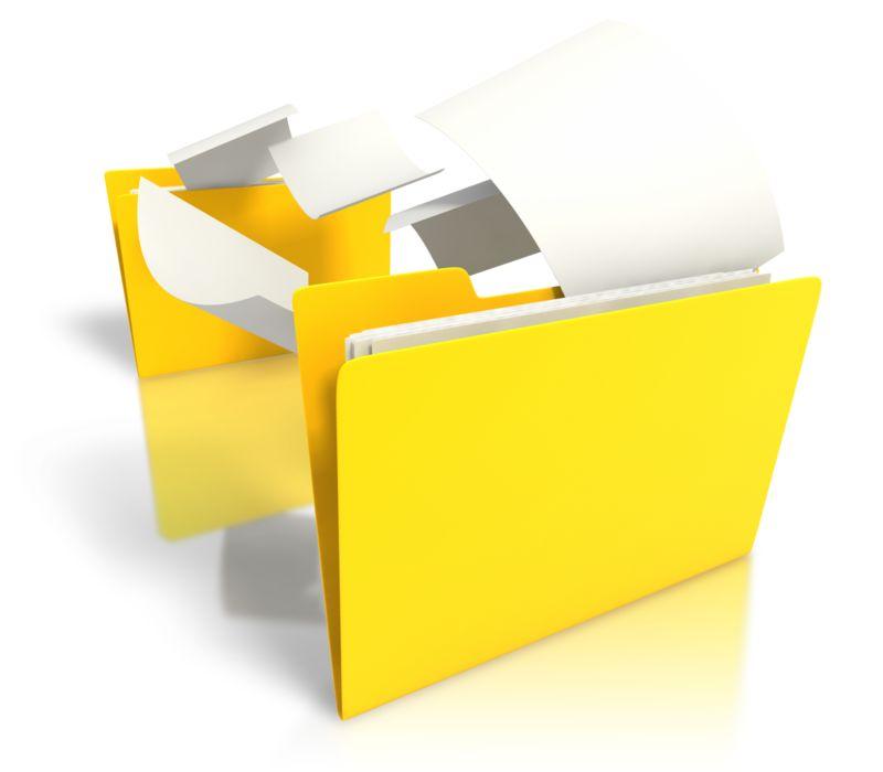 Clipart - Folder Files Transfer