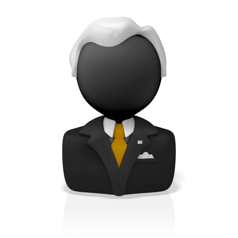 Clipart - Business Icon Bust