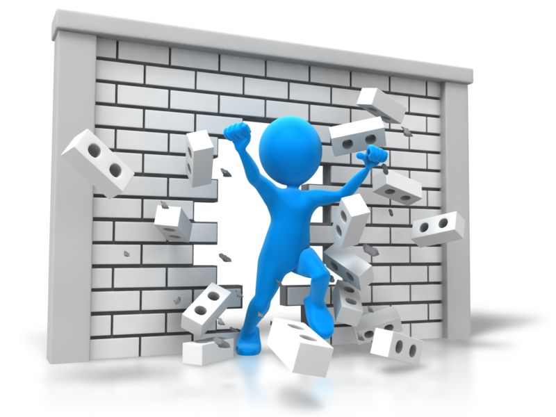 Clipart - Freedom Breaking Through Wall