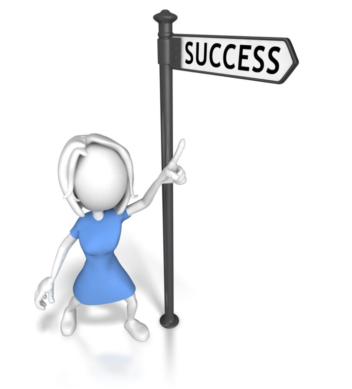Clipart - Woman Pointing At Success
